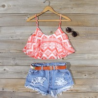 Spool No.72, Festival Flutter Top Vintage Inspired Shorts