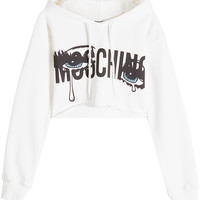 Cropped Cotton Hoody - Moschino | WOMEN | KR STYLEBOP.COM
