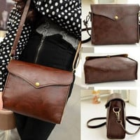 New Womens Leather Shoulder Bag Satchel Clutch Handbag Tote Purse Hobo Messenger (Color: Brown) = 1697625092