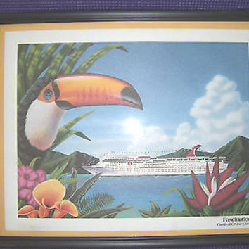 Carnival Cruise Lines FASCINATION Print Poster 1994