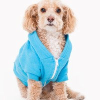 Neon Heather Blue Flex Fleece Dog Zip Hoodie | American Apparel