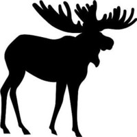 """Moose Decal 3.75""""x3.75"""" select your color!  vinyl sticker"""