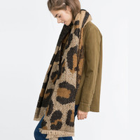 Winter Leopard Double Sided Scarf [9042038020]