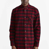 ZANEROBE Seven Foot Plaid Flannel Button-Down Shirt- Red