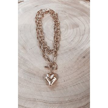 Heart Of Gold Chain Necklace