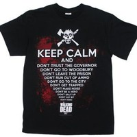 The Walking Dead Keep Calm And... Zombie AMC Adult T-shirt S
