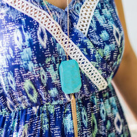 CAPE COD COLLECTION: Tuscan Waters Necklace in Turquoise and Gold