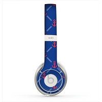 The Red & Blue Seamless Anchor Pattern Skin for the Beats by Dre Solo 2 Headphones