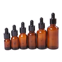 5/10/20/30/50 ML Amber Glass Liquid Reagent Pipette Bottle Eye Dropper Drop Aromatherapy MD502