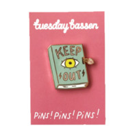Keep Out Diary Cloisonné Pin - Hello Holiday