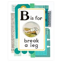 Break A Leg Button Pin Card