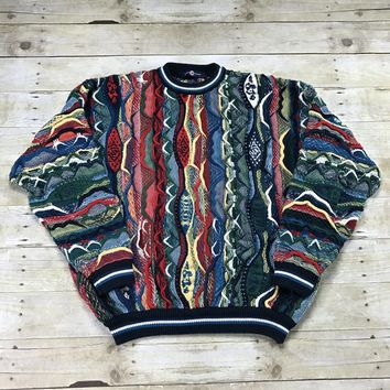 Vintage 90s Colorful Coogi Style Sweater Mens Size XL
