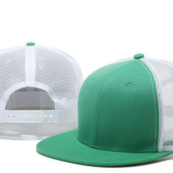 6 Mesh Style Blank Without Brand Logo Sport Flat Hat