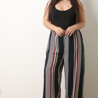 Stripes On Stripes Palazzo Pants