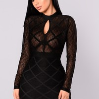 Karinna Bandage Dress - Black