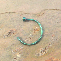 Green Nose Hoop Nose Ring