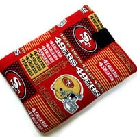 Hand Crafted Tablet Case From Licensed NFL San Francisco 49er's Football Team Fabric /Case for: iPad Mini, Kindle Fire HD 7, Nexus,Nook HD