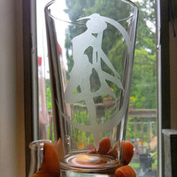 Sailor Moon Etched Pint Glass