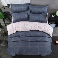 Sale Nordic simplicity style geonetric pattern Duvet Cover sheets Bedding Set King queen full twin size Cute Girls bedclothes