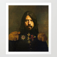 Dave Grohl - replaceface Art Print by Replaceface