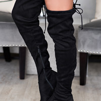 Seattle Skyline Thigh High Boot (Black)