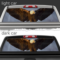 Perforated Vinyl Decal Rear Window Car Eagle Attack N099 FRST