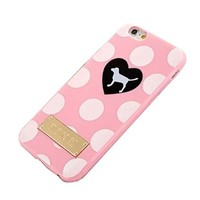 "SuperBZ Apple iPhone 6 Plus Polka Dot Case , Polka Dot Design Victoria Secret PINK TPU Case Cover for Apple iPhone 6 Plus 5.5""(Not iPhone 6 4.7""Version)"