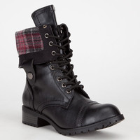 Soda Oralee Womens Boots Black  In Sizes