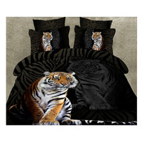 3D Queen King Size Bed Quilt/Duvet Sheet Cover Cotton reactive printing 4pcs 1.5M bed 22
