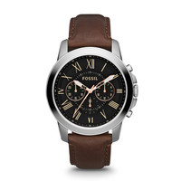 Grant Leather Watch | Fossil
