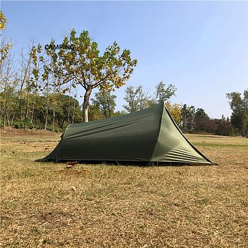 MountainCattle 2 Person Backpack Camping Tent, Ultralight Backpacking Dome Tent, Green/Yellow