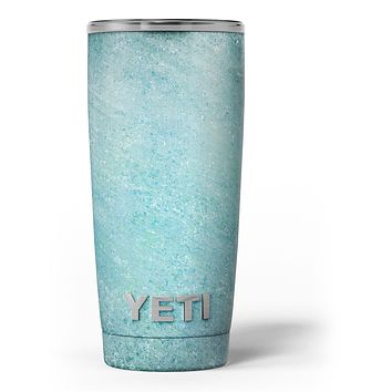 Textured Teal Surface - Skin Decal Vinyl Wrap Kit compatible with the Yeti Rambler Cooler Tumbler Cups