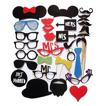31 Piece Funny Photo Booth Photo Props