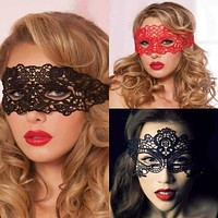 Sexy Babydoll Porn Lingerie Sexy Black/White/Red Hollow Lace Mask Erotic Costumes Women Sexy Lingerie Hot Cosplay Party Masks Macchar Cosplay Catalogue