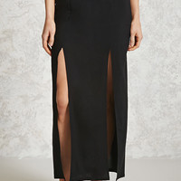 Woven M-Slit Maxi Skirt - Women - 2000238822 - Forever 21 Canada English