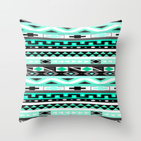 Tribal Print Throw Pillow by Summer Shells