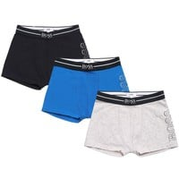 Boys Set of Three Boxer Shorts [Navy/Blue/Grey]