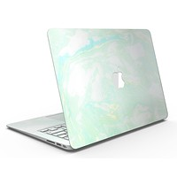 Light Green Textured Marble - MacBook Air Skin Kit
