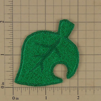 Animal Crossing Leaf Icon Embroidered Patch - 2 inches tall
