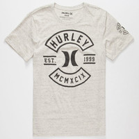Hurley Sparks Mens T-Shirt Cream  In Sizes