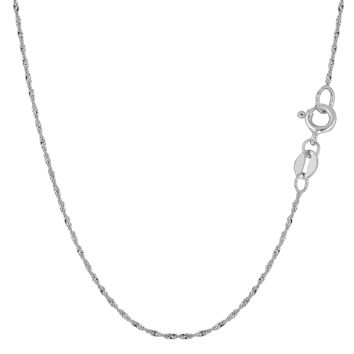 14K White Gold Singapore Chain - Width 1.0mm