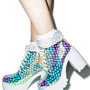ROC Boots Mermaid Ankle Boots Hologram