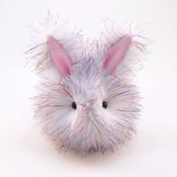 Sparkle the White and Rainbow Bunny Stuffed Animal Plush Toy