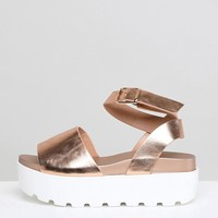 Park Lane Flatform Sandals at asos.com