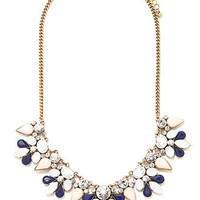 Faux Gem and Rhinestone Necklace