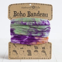 Natural Life Orange, Purple & Green Tie-Dye Boho Bandeau