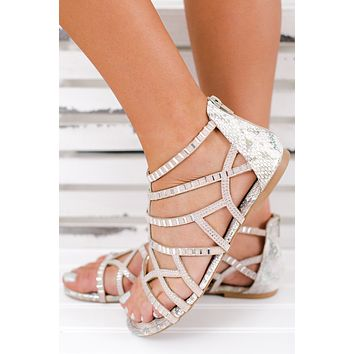 Chantel Not Rated Sparkle Sandals (Cream)