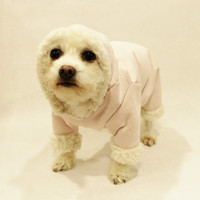 Dog Snow Suit Faux Suede and Sherpa Fleece Dog Winter Clothes Dog Clothes Pet Clothes