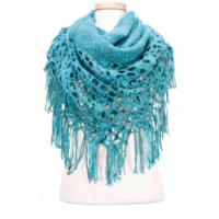 Poncho Tube Three-way Flower Knit | Six Color Options