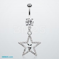 Glam Star Playboy Bunny Belly Button Ring
